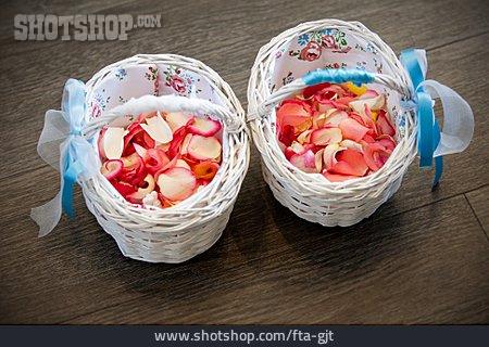 Wedding, Basket, Flower Basket