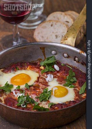 Poached Eggs, Shakshouka, Tomato Stew