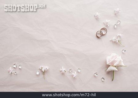 Copy Space, Wedding, Wedding Rings