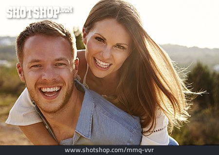Love Couple, Omitted, Summer, Piggyback