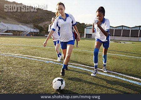 Sports Training, Kick, Girls Soccer