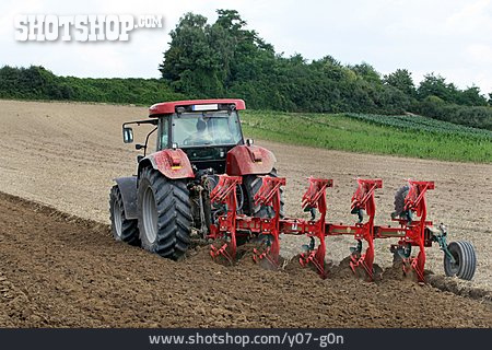 Tractor, Field Work, Plowing
