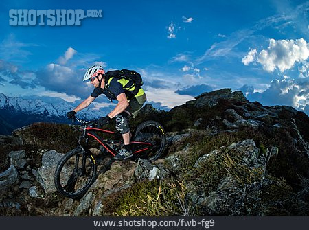 Extreme Sports, European Alps, Mountain Biker