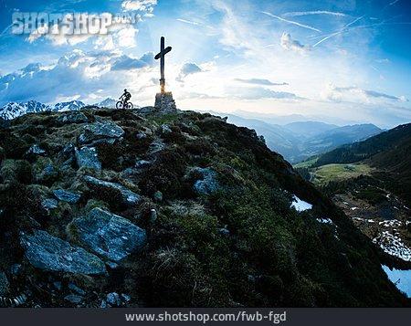 Extreme Sports, Summit, Mountain Biker