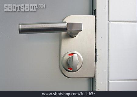 Locked, Toilet Door