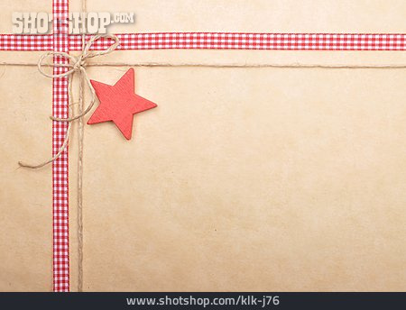 Star, Ribbon, Christmas Card