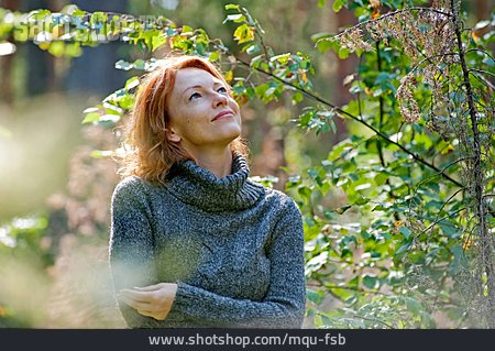 Woman, Nature, Relaxation