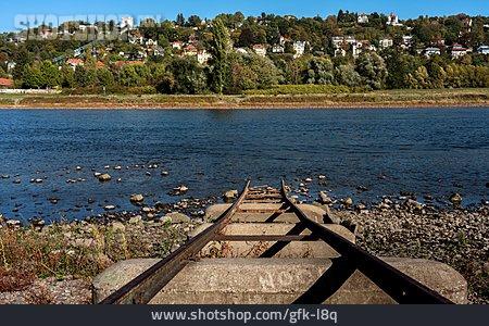 Elbe River, Low Tide, Loschwitz
