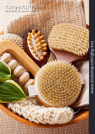Massager, Wooden Brush, Peeling Glove