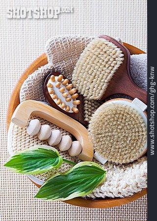 Massage Brush, Massager, Wooden Brush, Peeling Glove