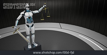 Justice, Judge, Artificial Intelligence, Automation