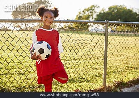 Girl, Soccer, Dark Skinned