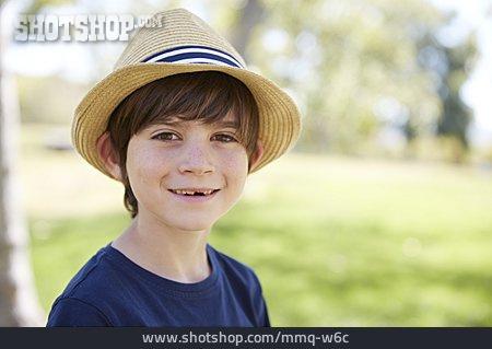 Boy, Straw Hat