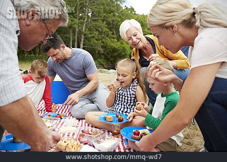 Eating, Picnic, Family Outing