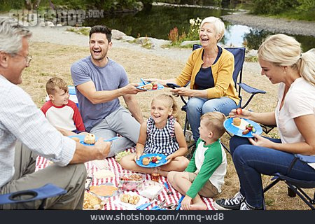 Summer, Picnic, Family Outing