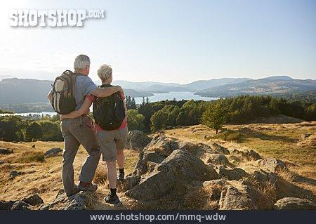 Embracing, Hiking, Older Couple