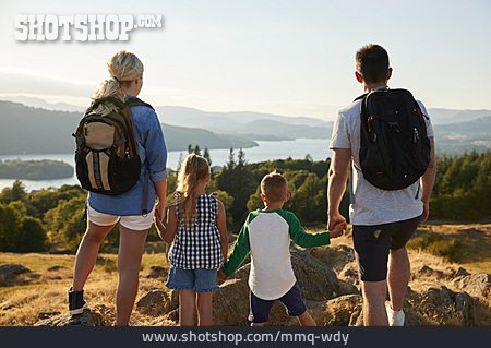 Hiking, View, Family Outing