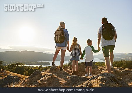 Mountains, Hiking, Family Outing