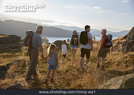 Hiking, Grandparent, Family Outing