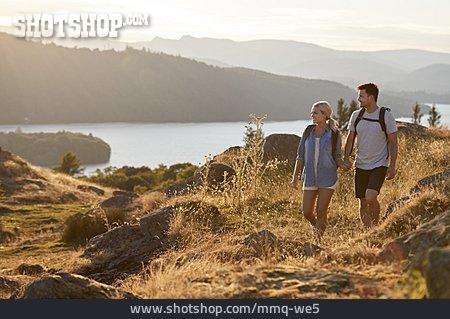 Couple, Hiking, Hike