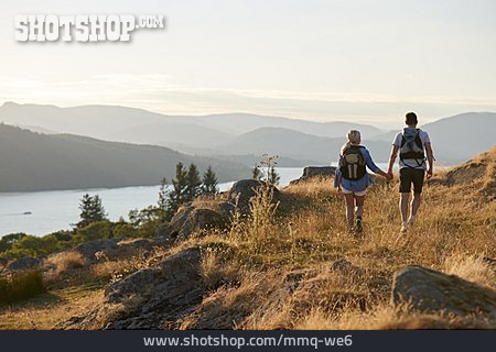Couple, Hiking, Outdoor