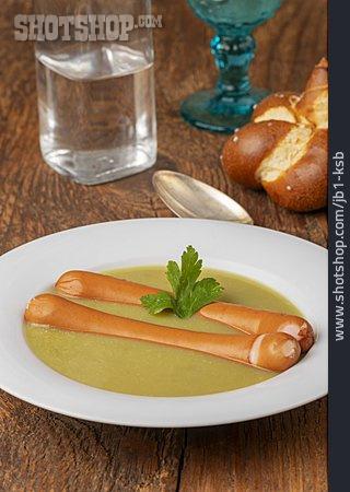 Sausages, Pea Soup