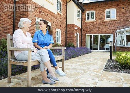 Senior, Old Nurse, Retirement Home