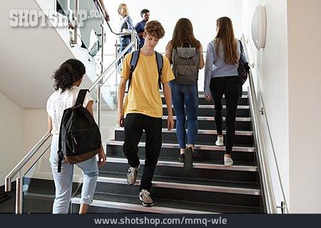 School Children, Stairway