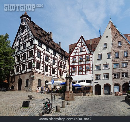 Market Square, Nuremberg, Timbered