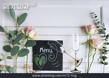Table Decoration, Valentine, Menu