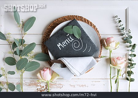 Table Decoration, Table Cover, Menu