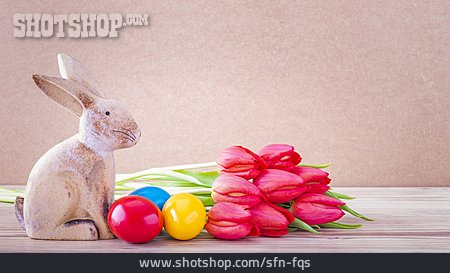 Tulips Bouquet, Easter Bunny, Easter Eggs