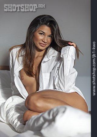 Woman, Nude, Shirt