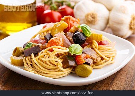 Spaghetti, Caponata