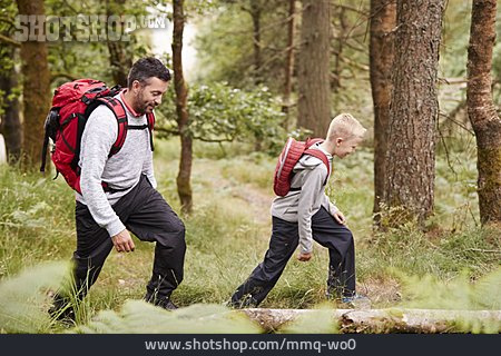 Father, Hiking, Son
