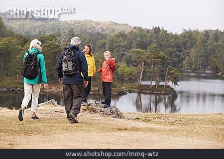 Grandson, Grandparent, Hiking Vacation