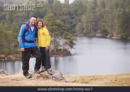 Father, Happy, Daughter, Hiking Vacation