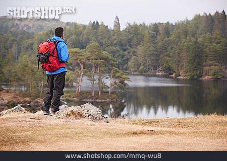 Man, Scenics, Hiking Vacation