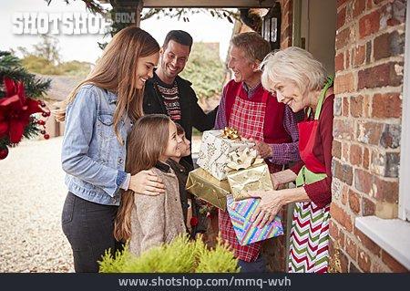 Christmas, Family, Greeting