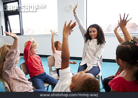Education, Preschool, Playfully, Chair Circle