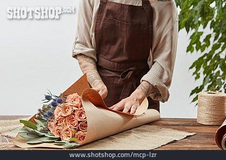 Bouquet, Brown Paper, Florist
