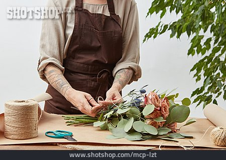 Bouquet, Tying, Florist