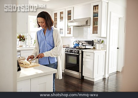 Woman, Kitchen, Preparation