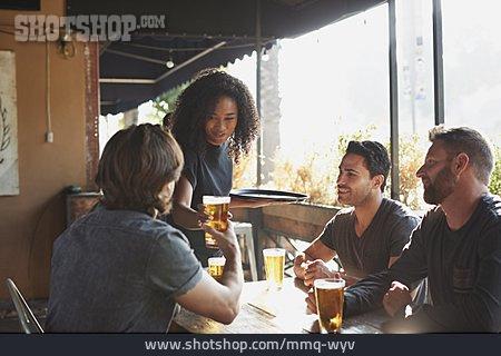 Waitress, Serving, Bar