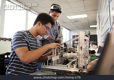 Cooperation, School Children, Workshop, Robotics