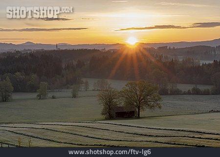 Sunrise, Sunbeams, Salzburg Country