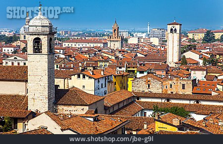 City View, Italy, Roofs, City Trips, Brescia