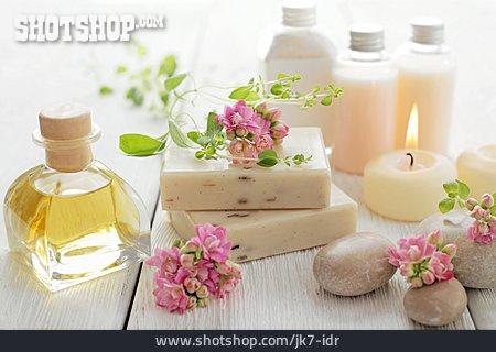 Bar Of Soap, Flacon, Essential Oil