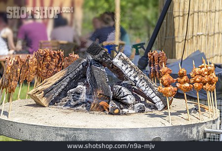 Broiling, Grooved, Grill, Kebabs, Bbq