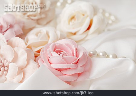 Wedding, Pastel, Fabric Flowers